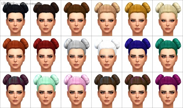 Mod The Sims: Lily hairstyle   new mesh by Vampire aninyosaloh for Sims 4