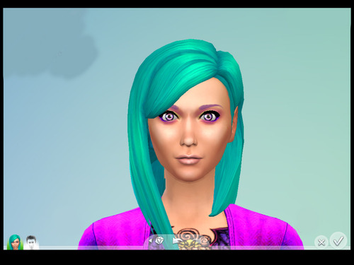 Brownies Wife Sims: Long Straight Parted Hairstyle Recolors for Sims 4