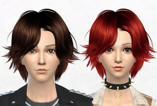 Sakura Phan: Newsea`s J062 TheTruth hairstyle retextured for Sims 4