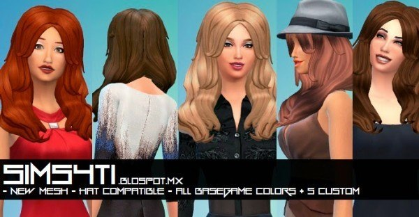 Sims4Ti: Celebrity hairstyle for Sims 4