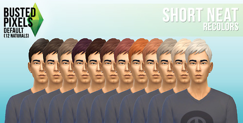 Busted Pixels: Short neat hairs for Sims 4