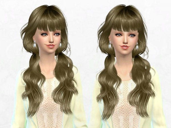 Sakura Phan: Newsea`s J162 Seasame hairstyle retextured for Sims 4