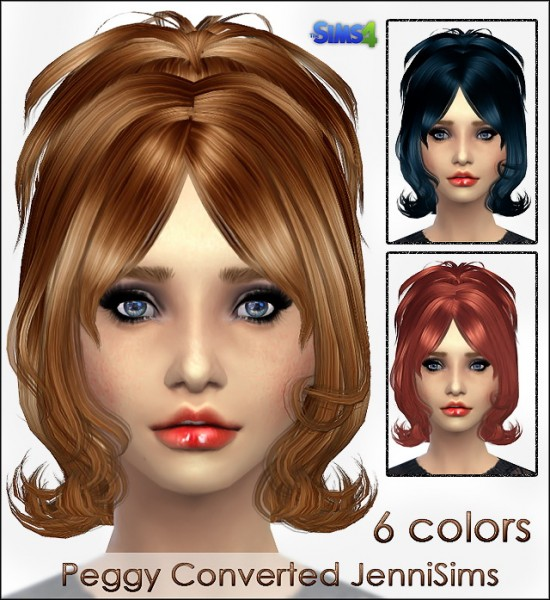 Jenni Sims: Peggy hairstyle converted for Sims 4