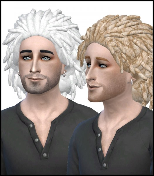 Simista: Short Locs hairstyle recolours for Sims 4