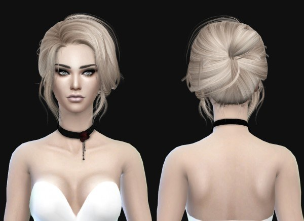 Stealthic: 500 500 Follower Gift Newsea Starlet Conversion hairstyle for Sims 4