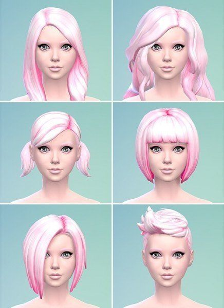 Berry Simlish: Strawberry Ice Cream hairstyle recolor for Sims 4