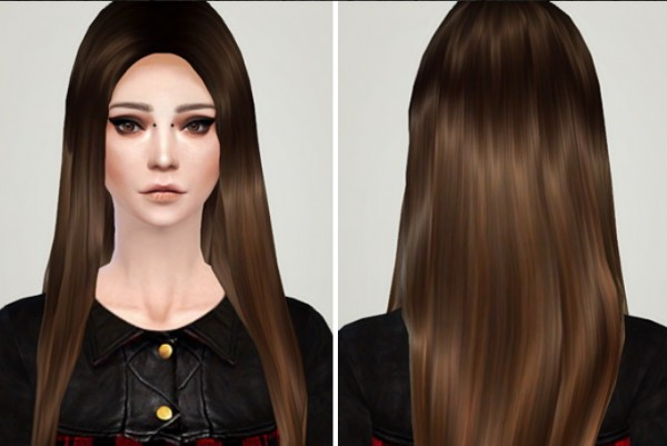 Puccamichi: Adriana hairstyle retextured for Sims 4