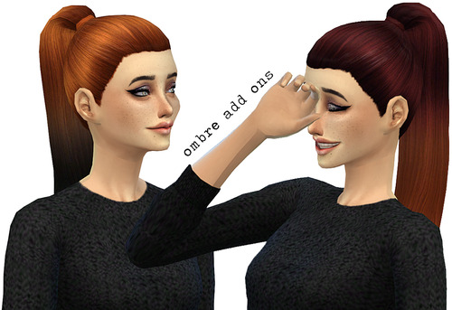 Miss Paraply: 3 hairstyle retextured for Sims 4