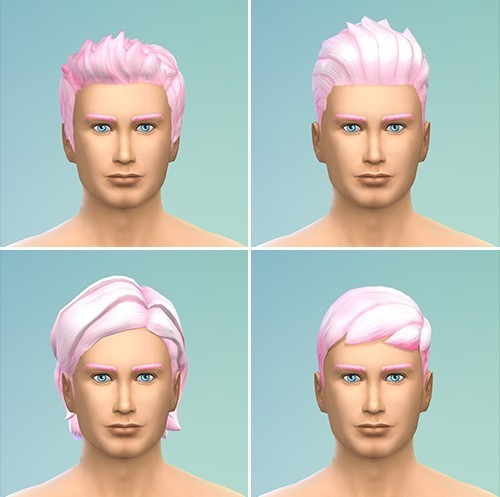 Berry Simlish: Strawberry Ice Cream 2 hairstyle recolor for Sims 4