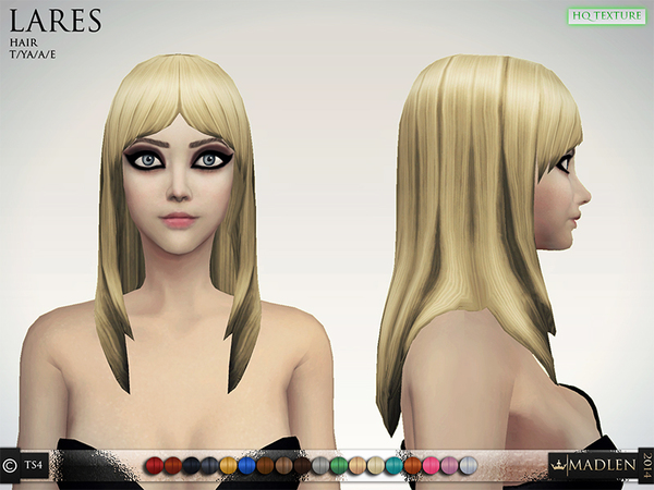 The Sims Resource: Madlen hairstyle by MJ95 for Sims 4