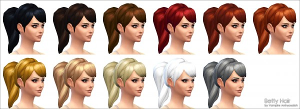 Mod The Sims: Betty Hairstyle by Vampire aninyosaloh for Sims 4