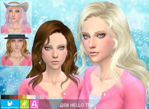 NewSea: J208 Hello hairstyle by NewSea for Sims 4