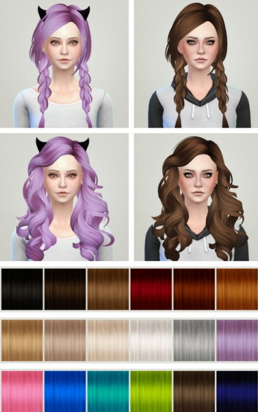 Liahxsimblr: Skysims 163 & 187 hairstyles converted by Mocka sims for Sims 4