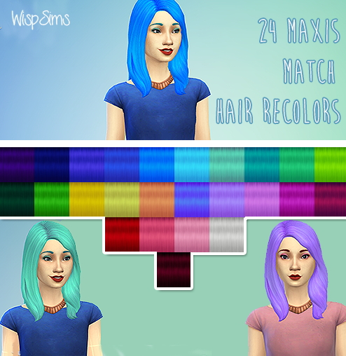 WispSims: Followers gift hairstyle for Sims 4