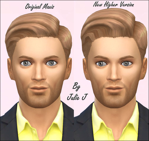 Julietoon: Male Left Parted Hair Made Higher for Sims 4