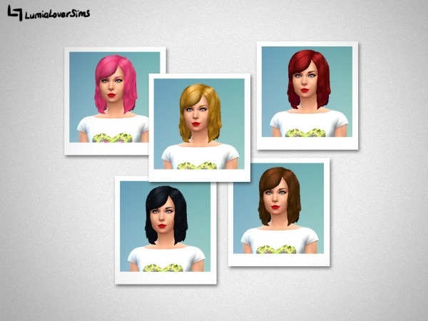 Lumia Lover Sims: Taylor bob hairstyle for Sims 4