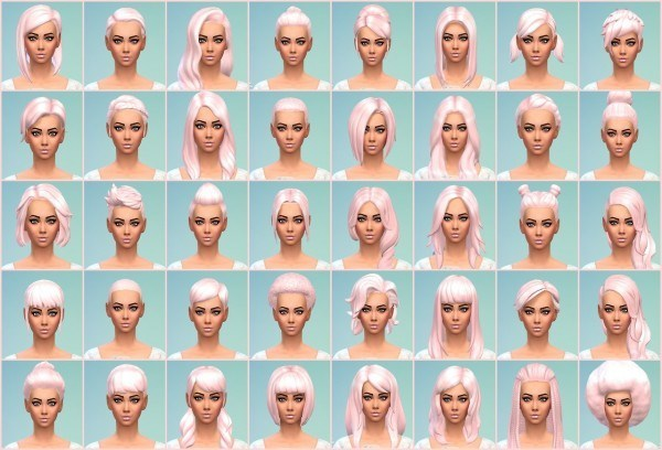 Dazzle Sims: Part one of my cotton cady hairstyle recolors for Sims 4