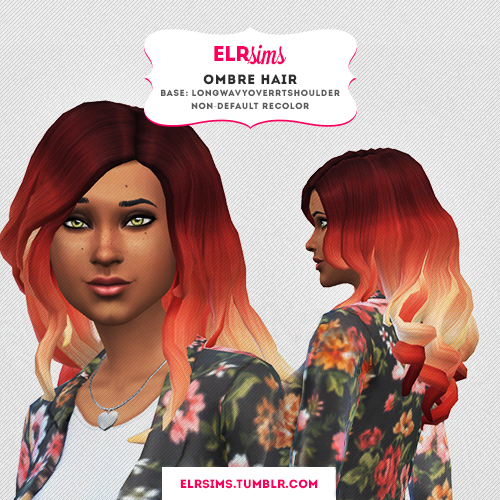 Sims 4 Hairs Elr Sims Ombre Hairstyle 02