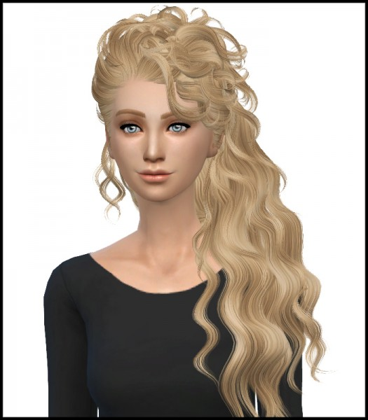 Simista: Newsea`s Disco Hairstyle Converted by David Sims and retextured by Simista for Sims 4