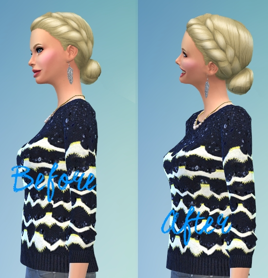 Mod The Sims: Mekka   French Braid Volumized hairstyle by Kubrick for Sims 4