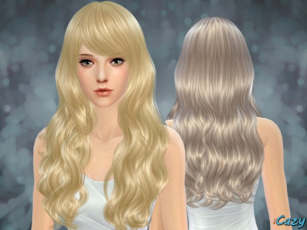 The Sims Resource: Sorrow Hairstyle by Cazy for Sims 4