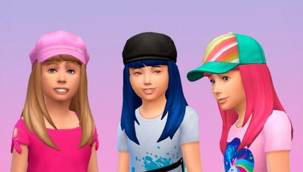 Mystufforigin: Long Straight Bangs for Girls for Sims 4