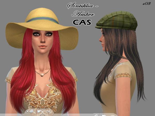 Sintiklia Sims: Amber hairstyle 03 for Sims 4