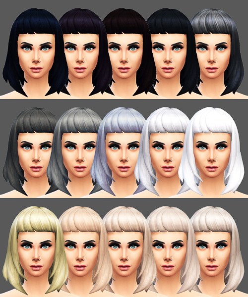Sqquaresims: Miss Fortune Sims hairstyle retextured for Sims 4