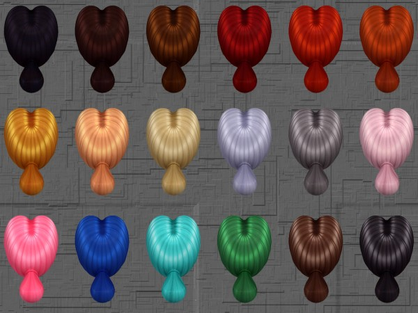 Mod The Sims: Rachael Hairstyle 18 Colors by Notegain for Sims 4