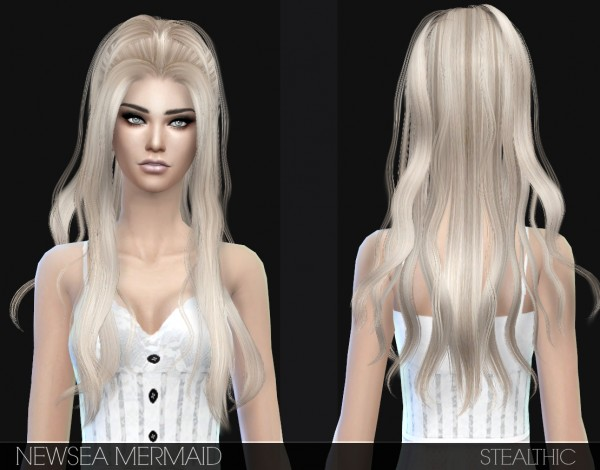 Stealthic: Newsea`s Innocent and Mermaid hairstyles converted for Sims 4