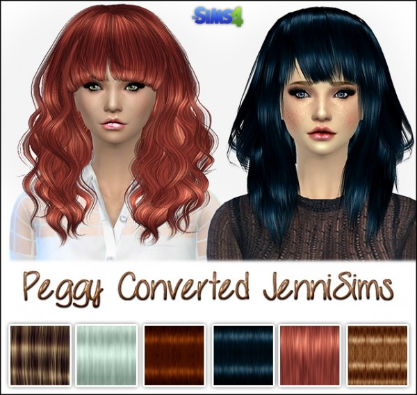 Jenni Sims: Peggy Hairstyles converted for Sims 4