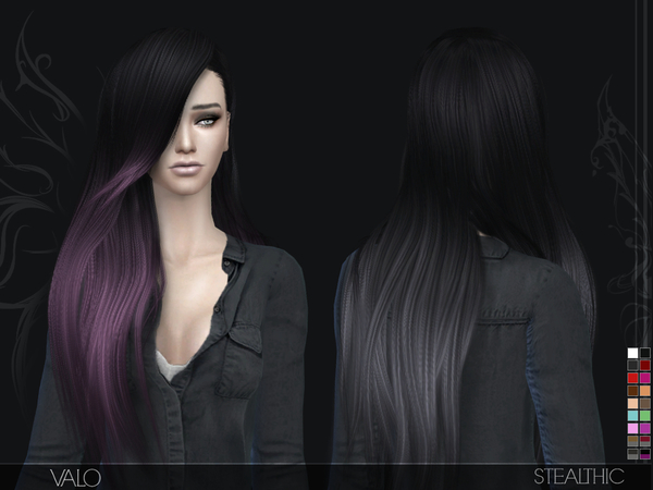 Stealthic: Valo Hairstyle for Sims 4