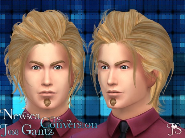 Java Sims: Newsea`s J068 Gantz hairstyle for Sims 4