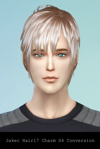 Rg veda twinklestar: Jakec 17 hairstyle converted for Sims 4