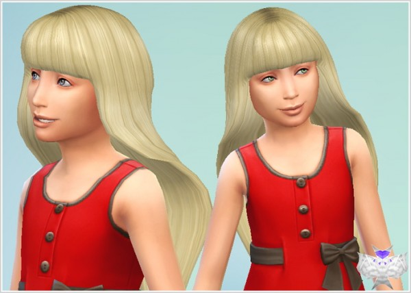David Sims: Barbie Hairstyle for girls for Sims 4