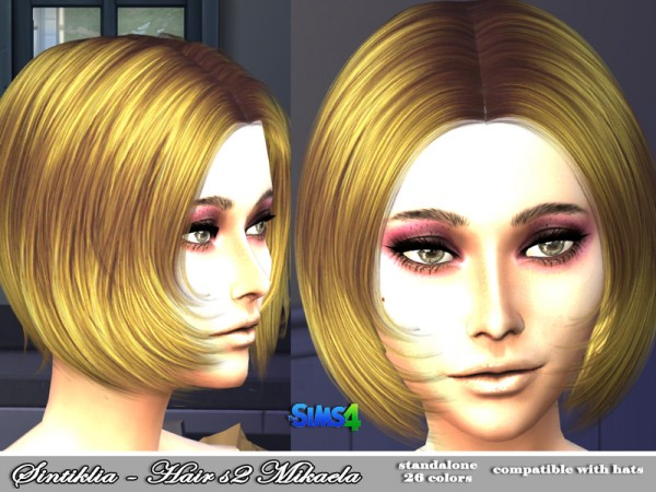 The Sims Resource: Hairstyle 02 Mikaela by Sintiklia for Sims 4