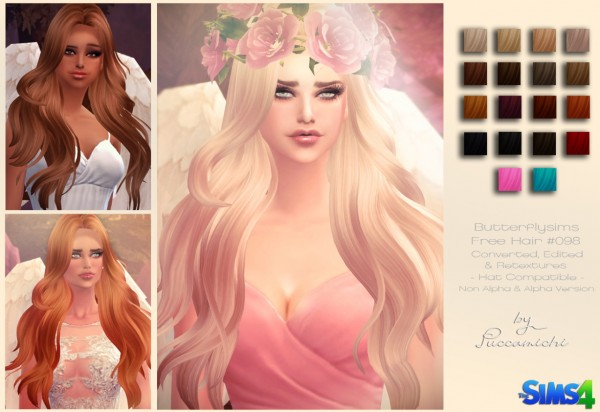 Puccamichi: Butterflysims 096 hairstyle converted for Sims 4