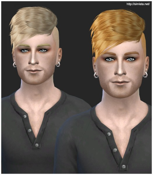 Simista: Black Le Hawk Fatale Male Hairstyle Retexture for Sims 4