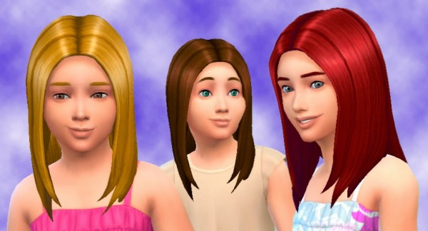 Mystufforigin: Straight hairstyles for girls for Sims 4