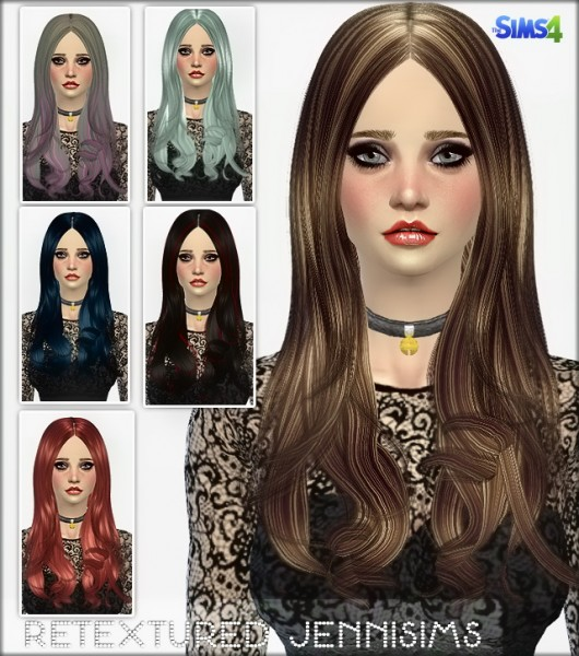 Jenni Sims: Newsea`s Elasims Converted Hairstyle for Sims 4