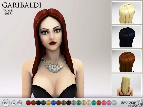 Madlen Sims: Madlen Garibaldi Hairstyle   new mesh for Sims 4