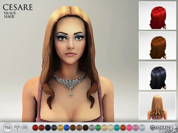 Madlen Sims: Madlen Cesare Hairstyle   new mesh for Sims 4