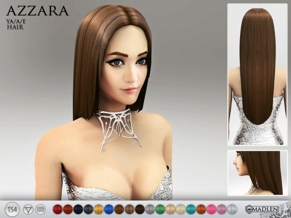 Madlen Sims: Madlen Azzara Hairstyle   new mesh for Sims 4
