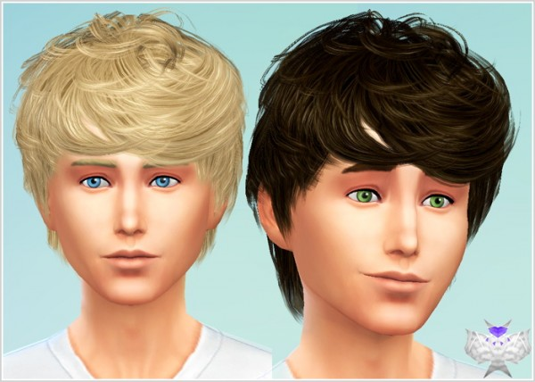 David Sims: Cazy`s 64 hairstyle converted for Sims 4