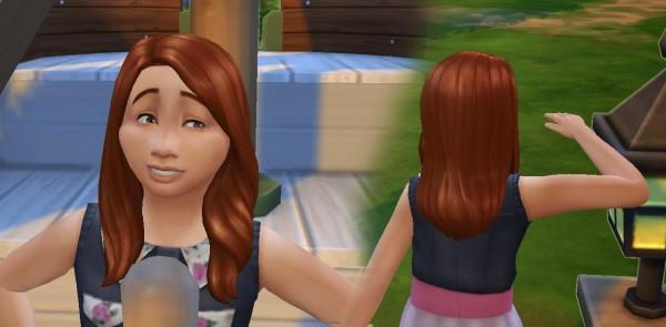 Mystufforigin: Long Wavy Subtle Part Hair for Girls for Sims 4