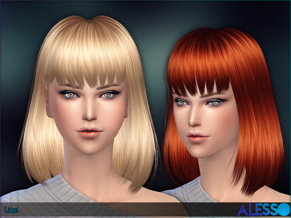 The Sims Resource: Lion hairstyle by Alesso for Sims 4