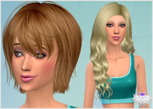 David Sims: Conversion hairstyle set 6 for Sims 4