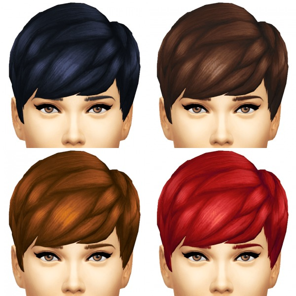 Sim4ny: Straight Bangs hairstyle converted from child to young for Sims 4