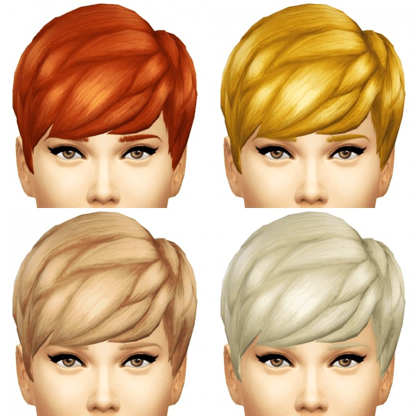 Sims 4 Hairstyles: Sim4ny: Straight Bangs Hairstyle Converted