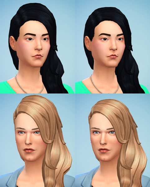 Simsontherope   : Long Wavy Hairstyle Retextured for Sims 4